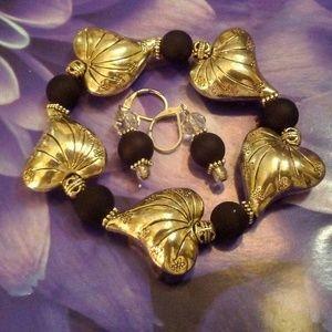 Heart Bracelet Set